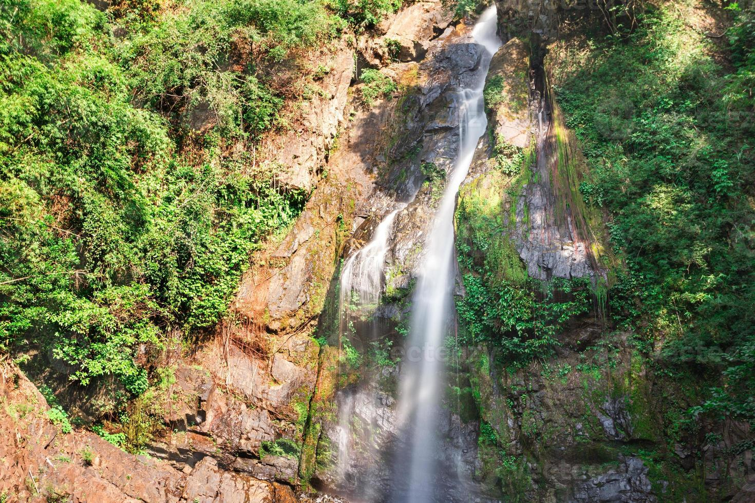 Deep forest Waterfall in Phang Nga, South of Thailand photo