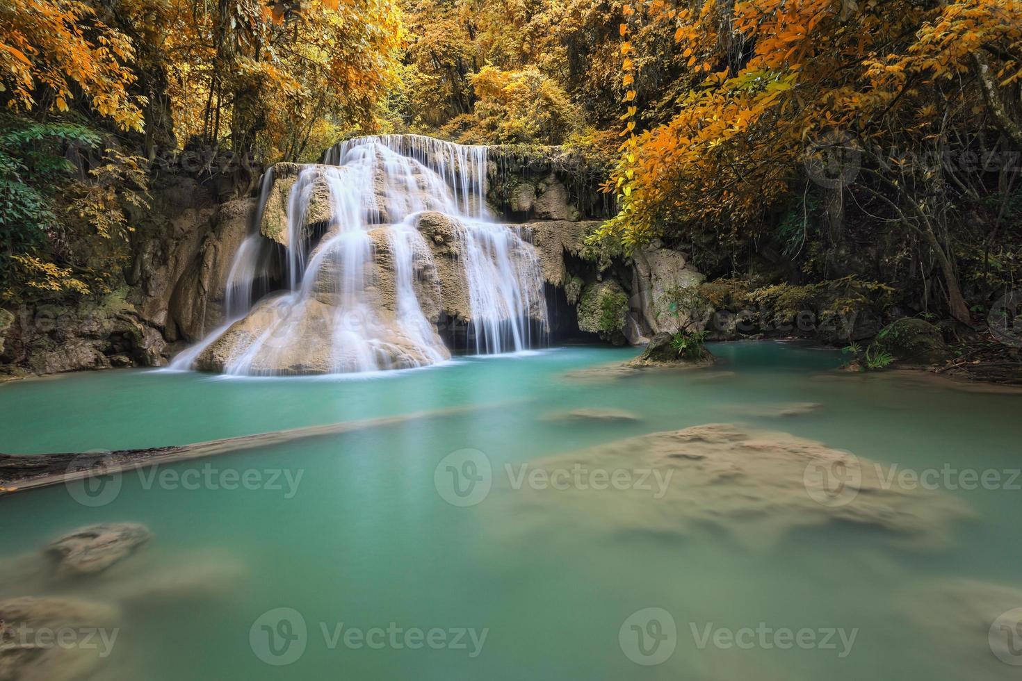 Waterfall in Autumn season photo