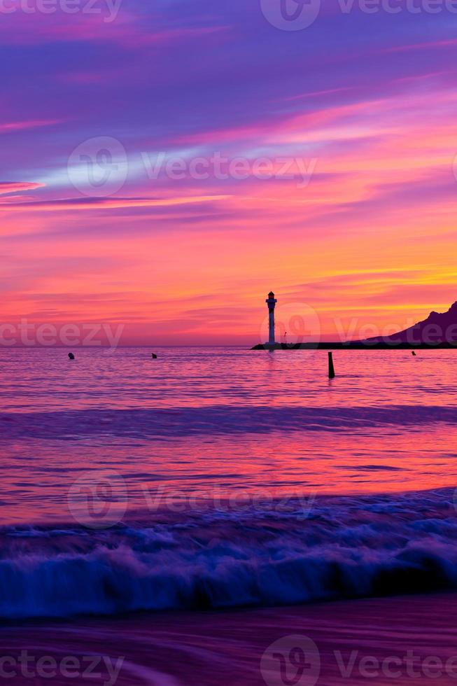 Magic Sunset in Cannes, Cote d'Azur, France photo