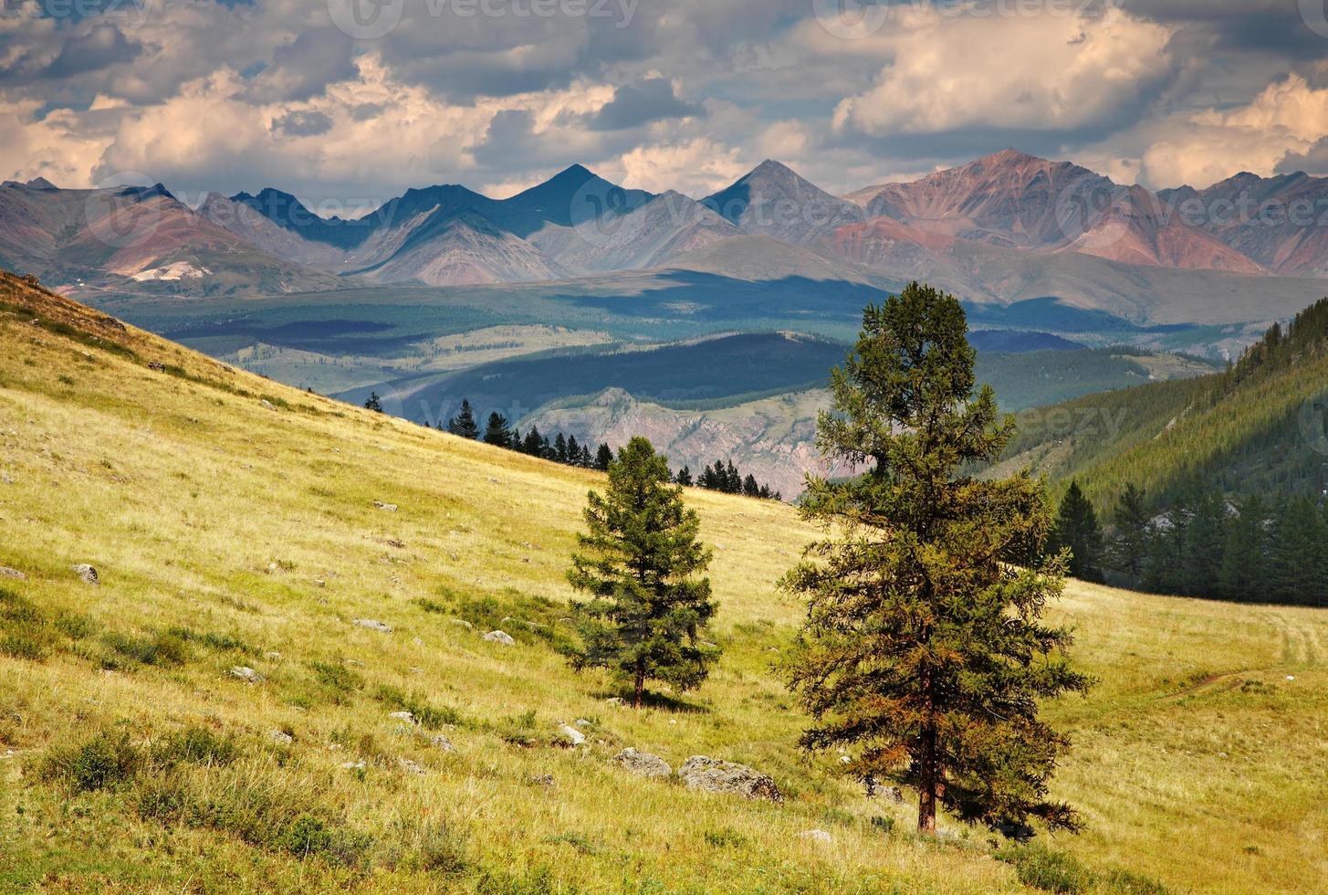 vista desde la montaña foto