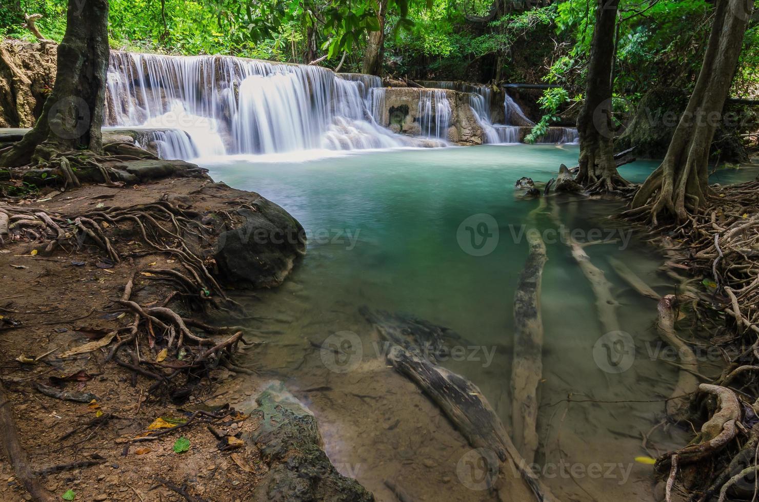 Waterfall in Kanchanaburi, Thailand.psd photo