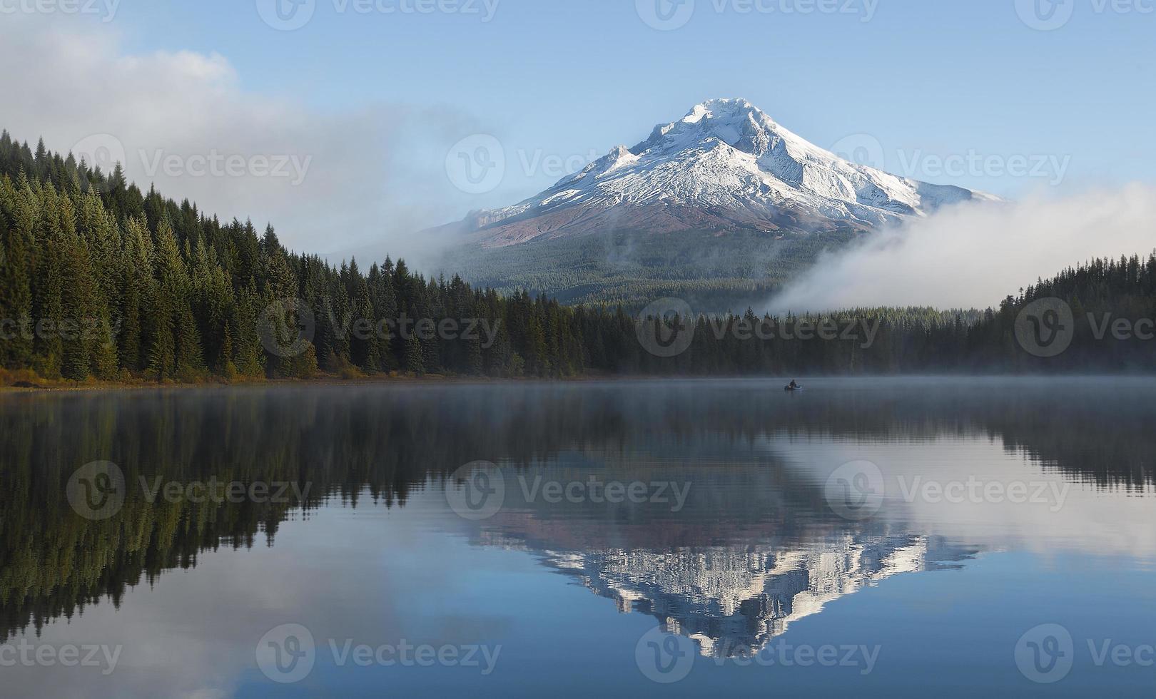 Foggy Morning at the Lake photo