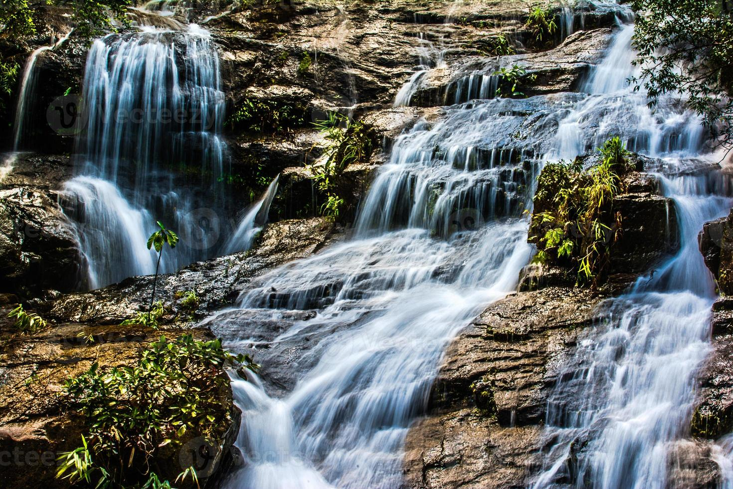 ngao waterfall, ranong province, thailand photo