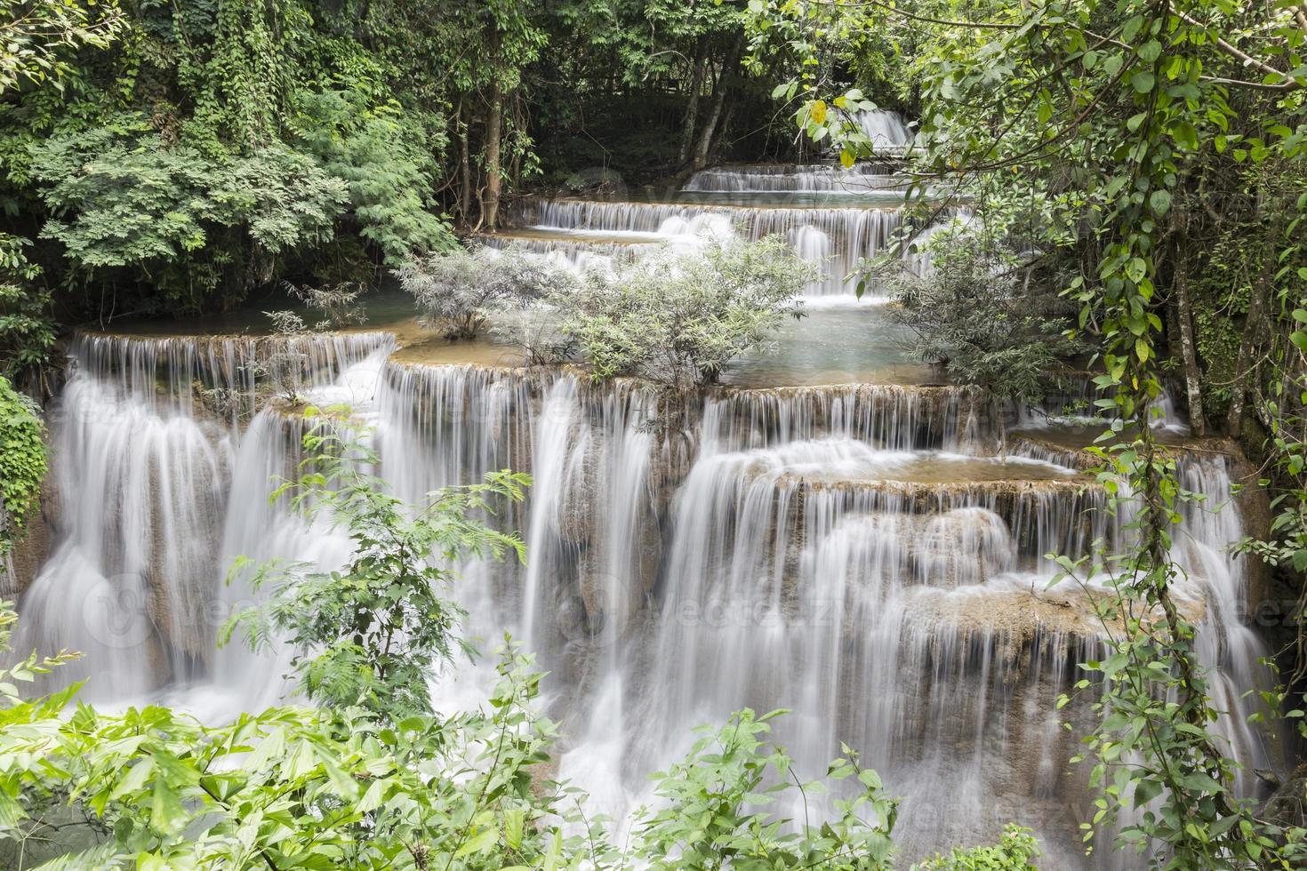 Huai Mae Khamin waterfall in Kanchanaburi photo