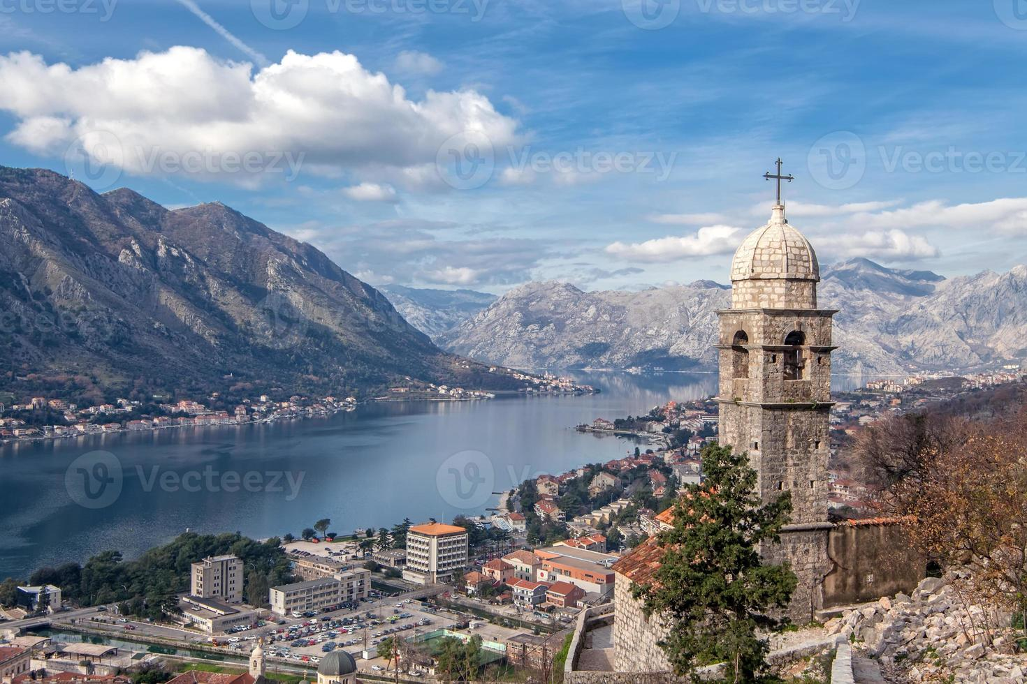 Bay of Kotor, Montenegro. Boka kotorska. photo