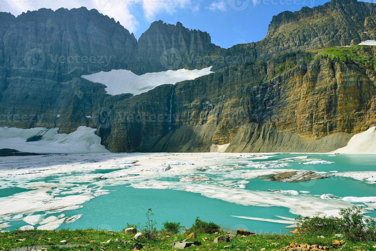Grinnell glacier in Many Glaciers, Glacier National Park, Montana photo
