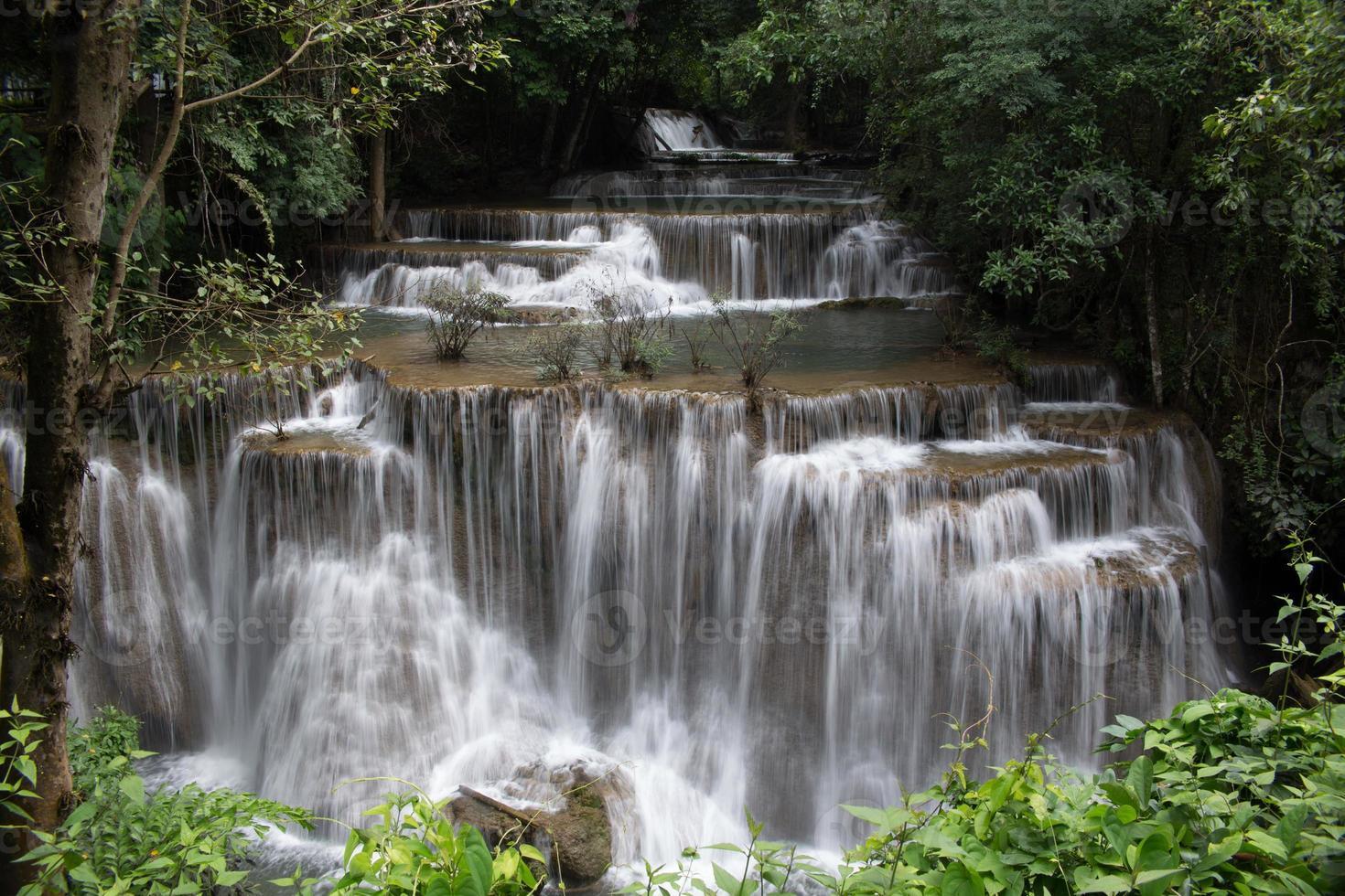beautiful waterfall in Thailand photo