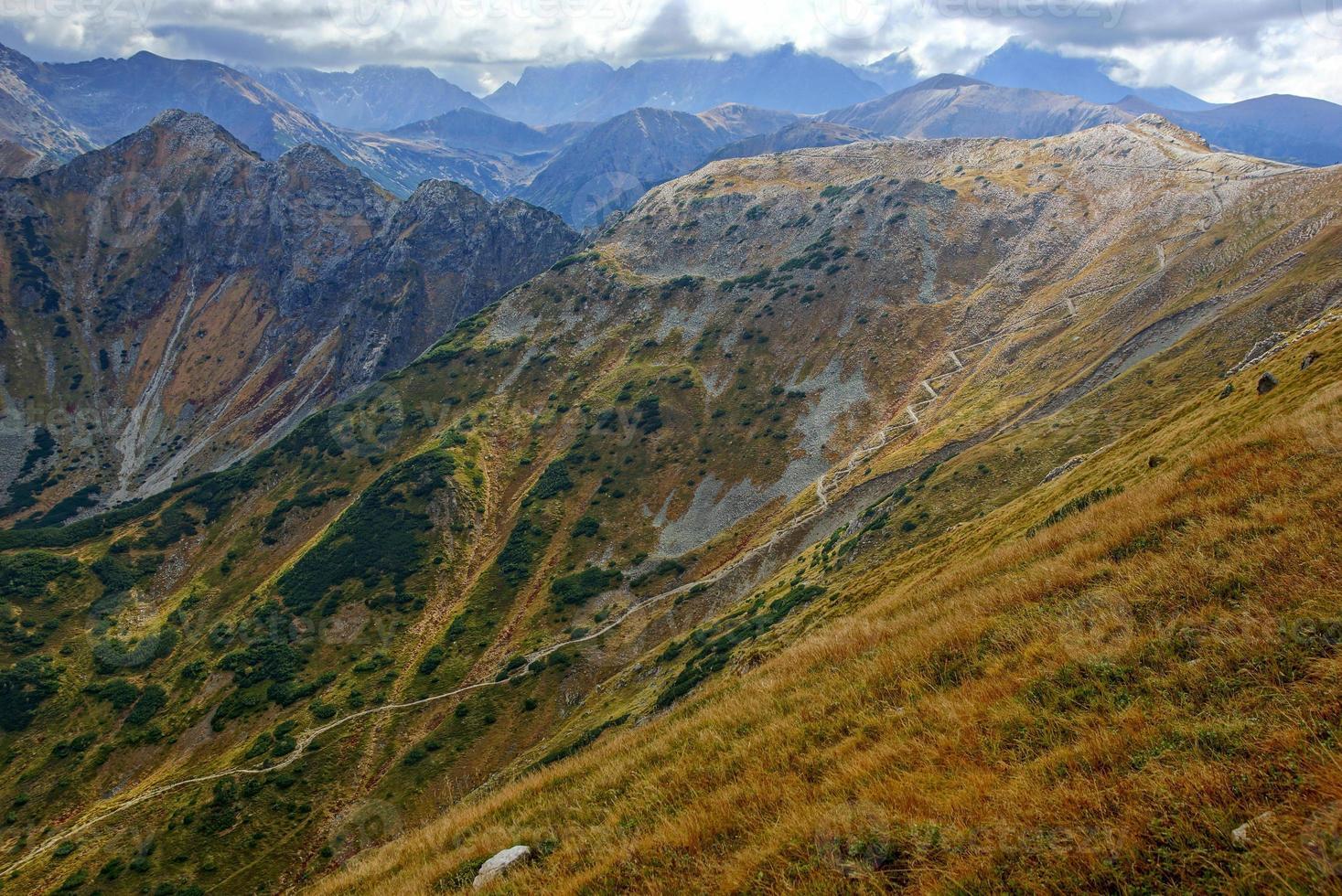 picos de las montañas rojas, montañas tatras en polonia foto