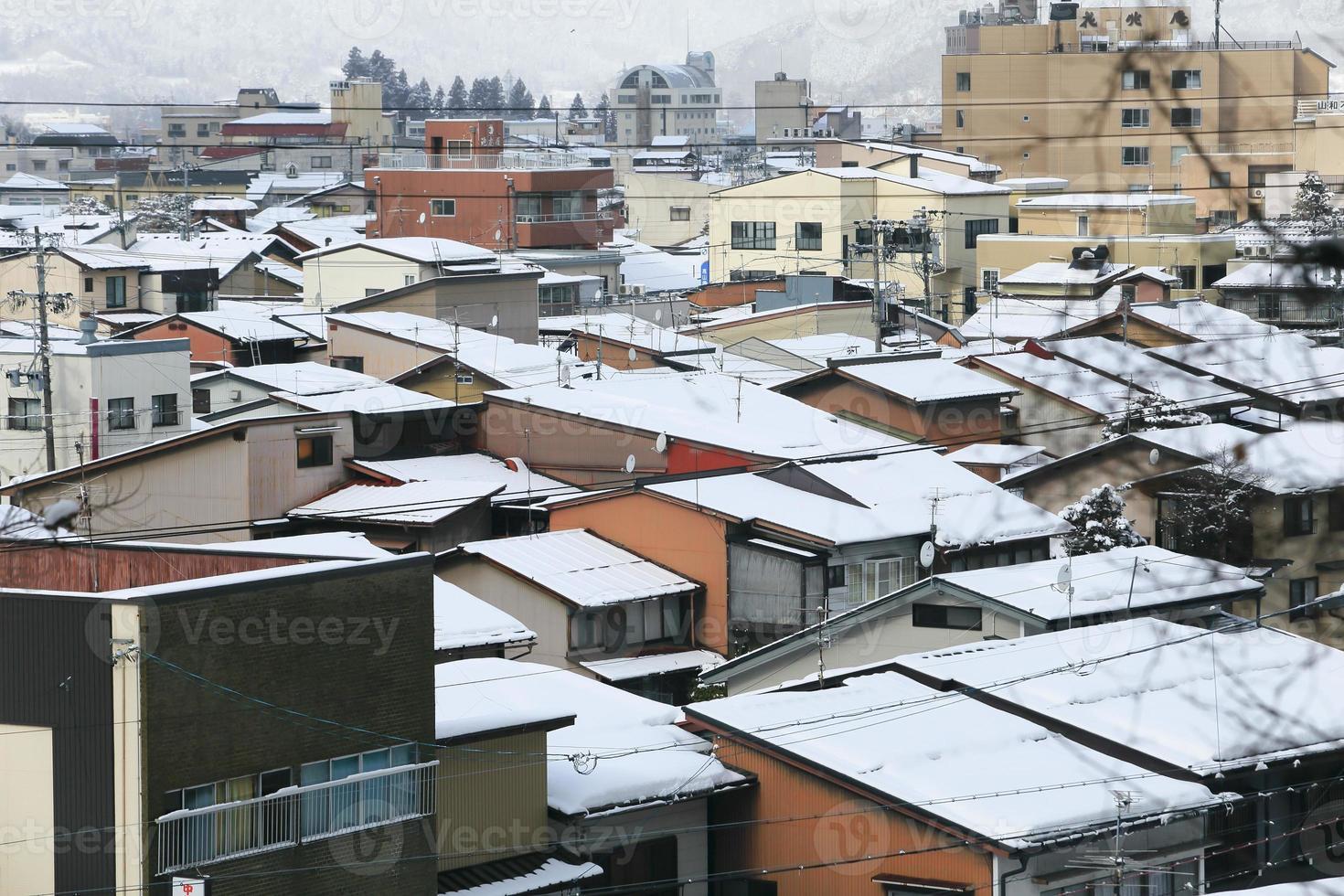 vista de la ciudad takayama japón foto