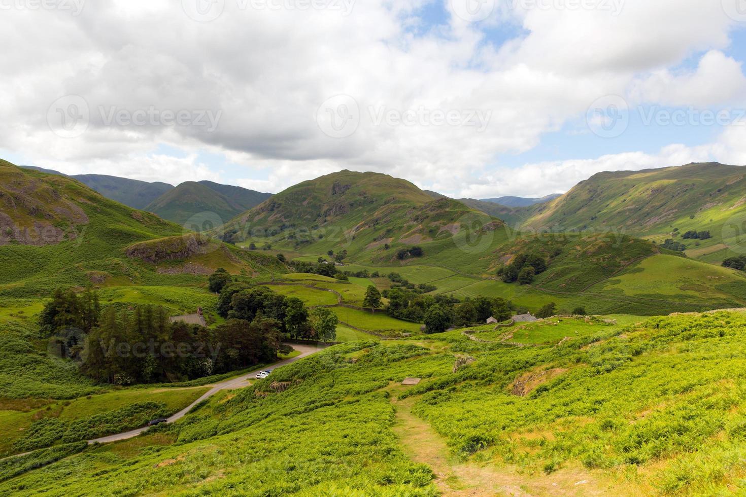 Martindale Valley Lake District Cumbria Inglaterra desde Hallin cayó foto