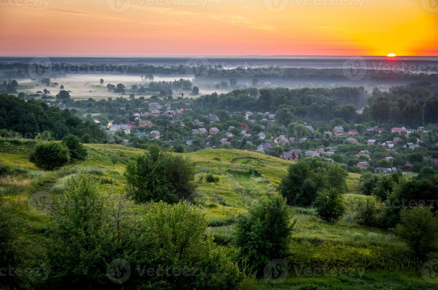 amanecer en el verano foto