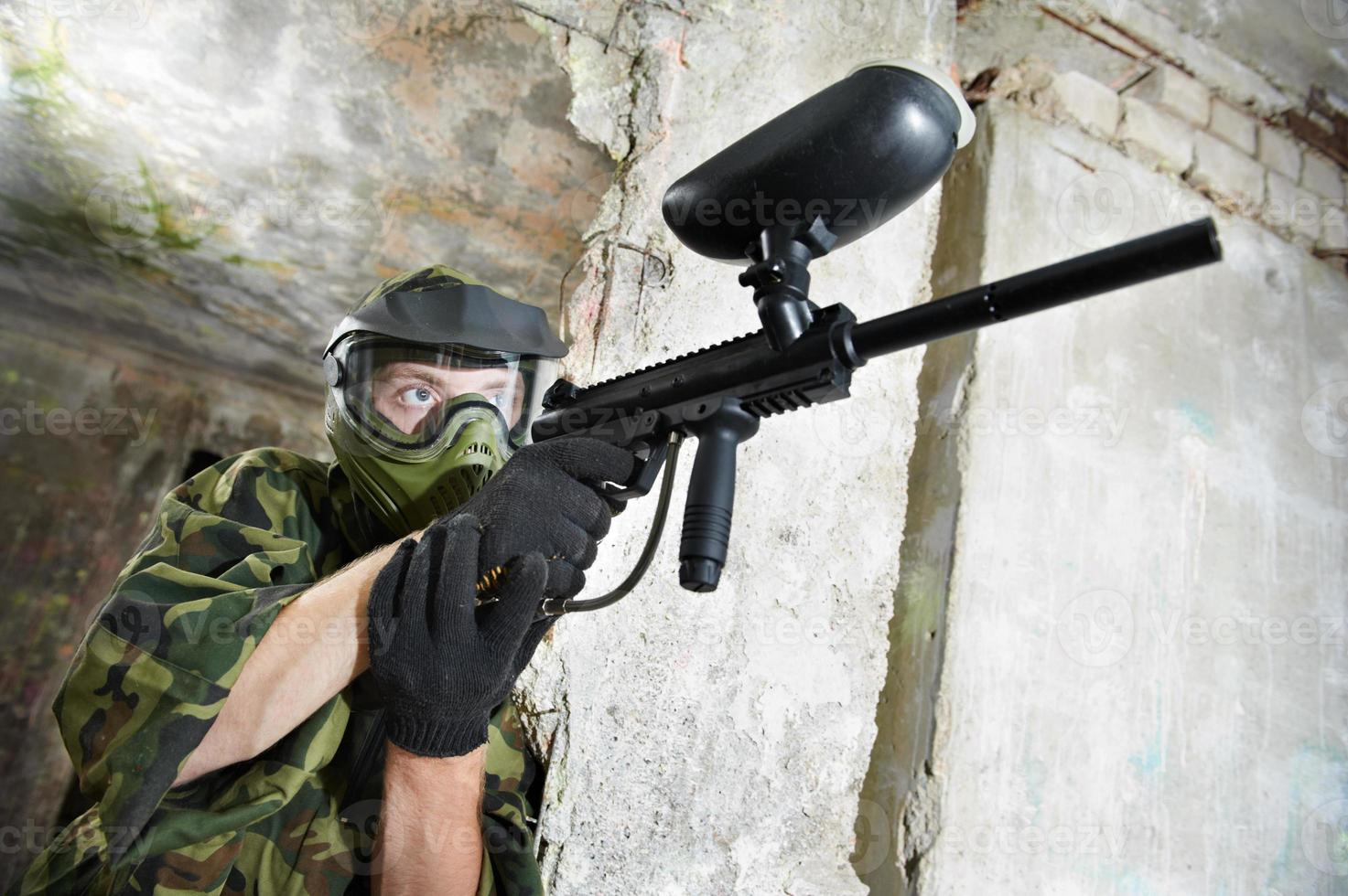 paintball player photo