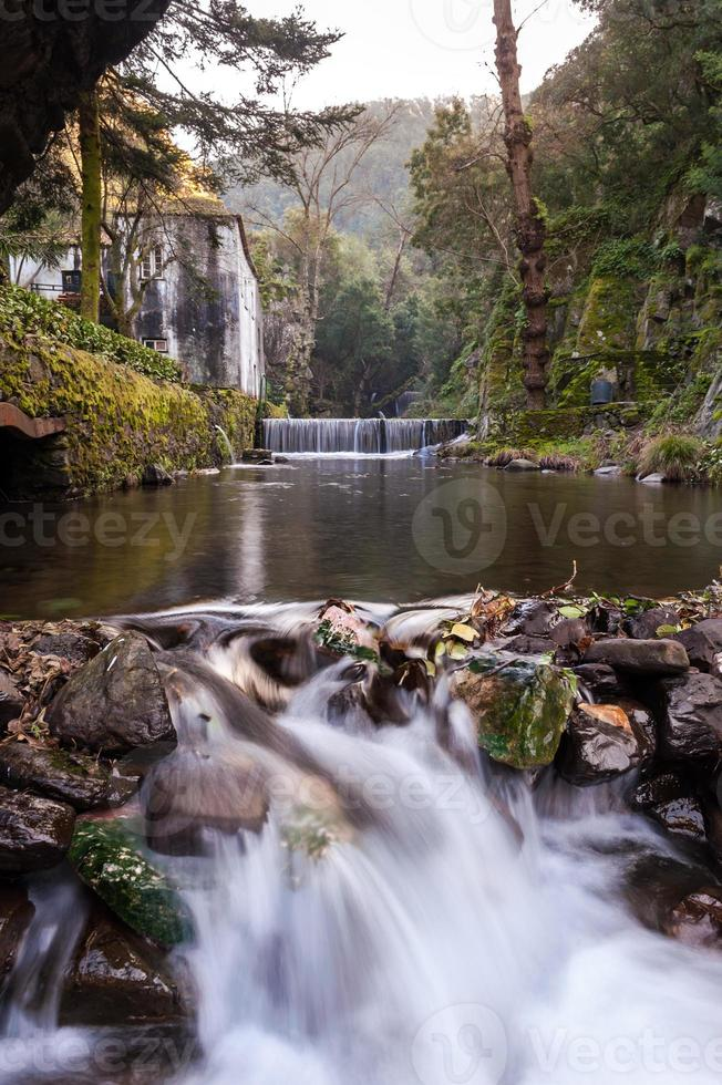 Creek at Lousa castle in Portugal photo