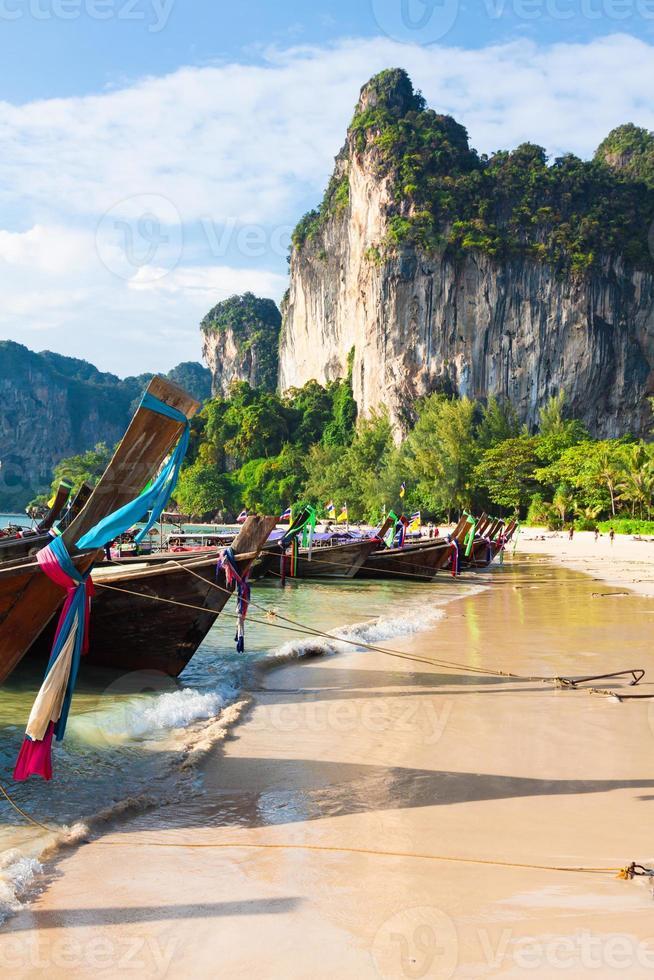 Railay beach in Krabi Thailand photo