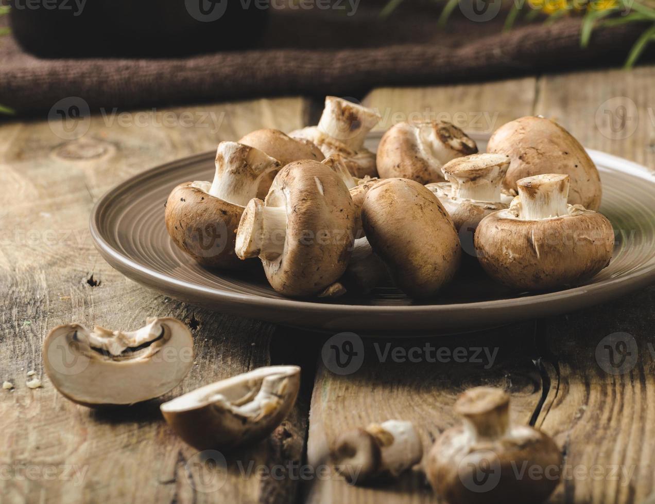 Homemade organic mushrooms photo