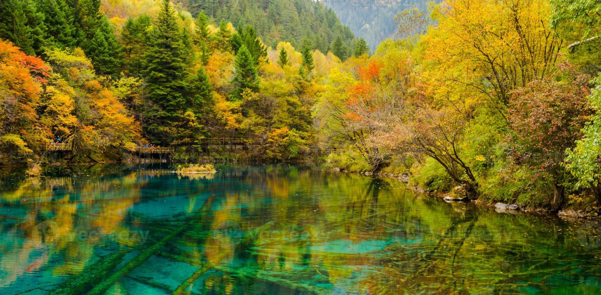 Autumn in Jiuzhaigou national park, Sichuan, China photo