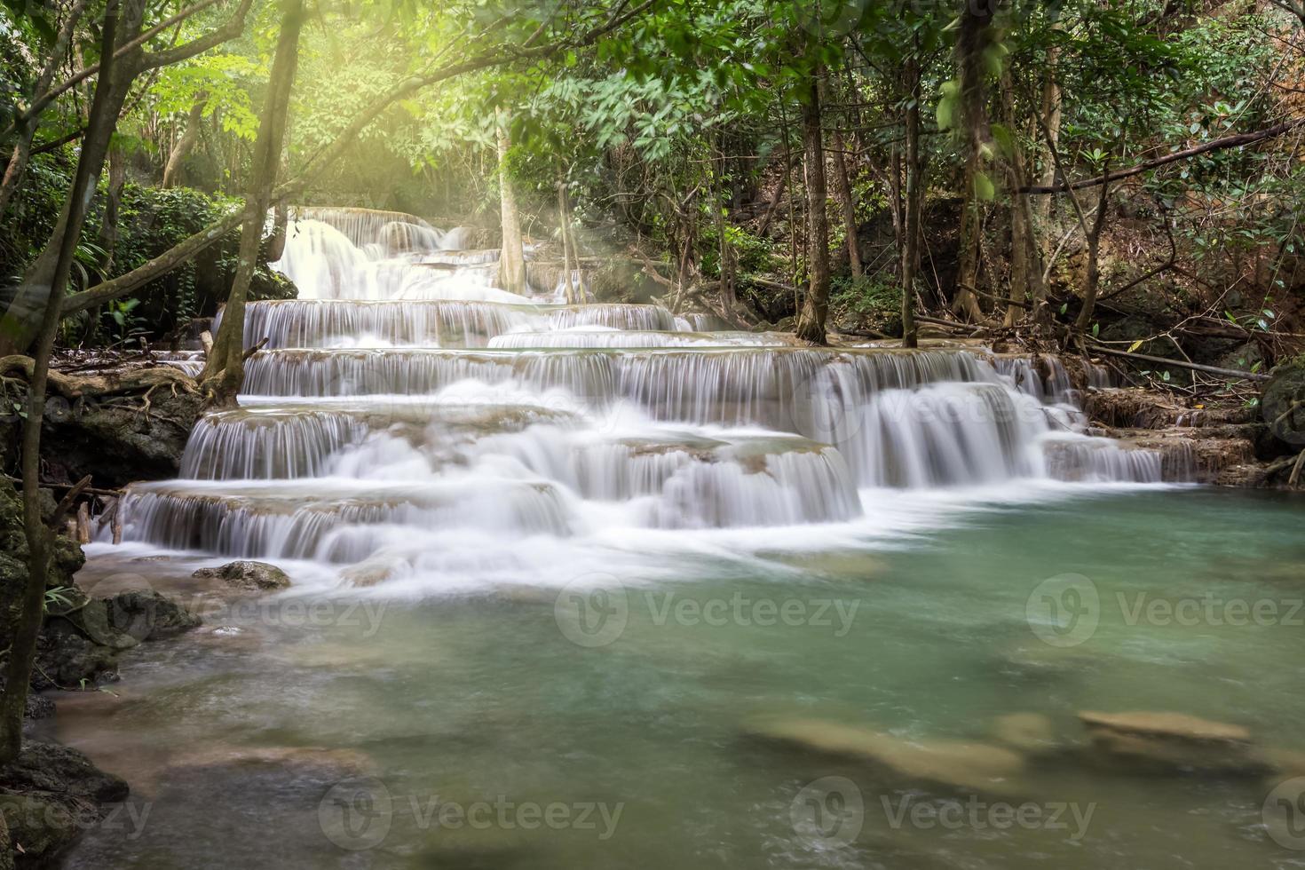 limestone waterfalls, Huay mae khamin photo