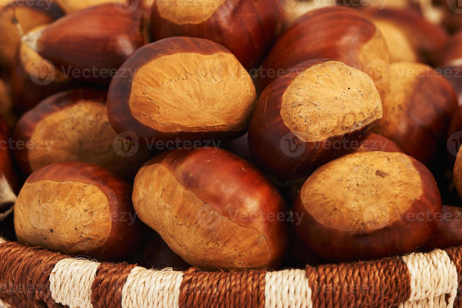 Chestnuts in a basket photo