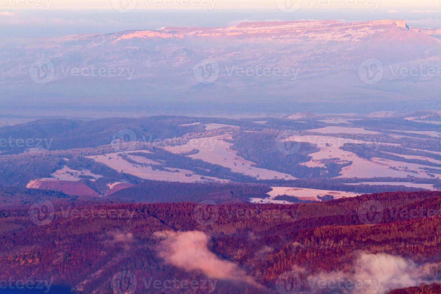 montañas vista aérea foto