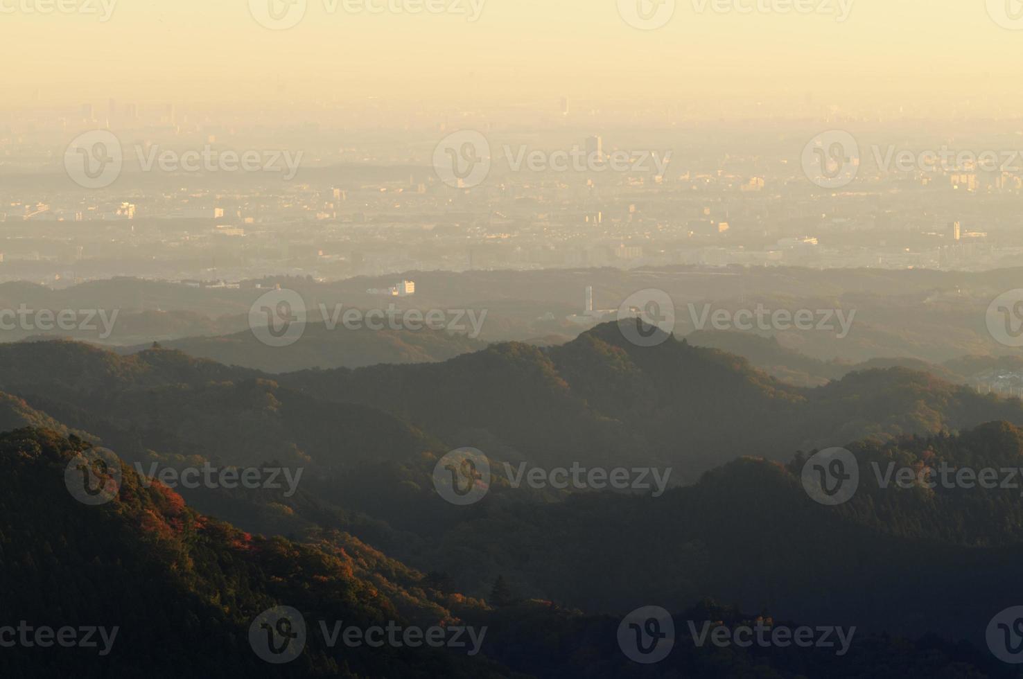 vista aérea de tokio por la mañana foto