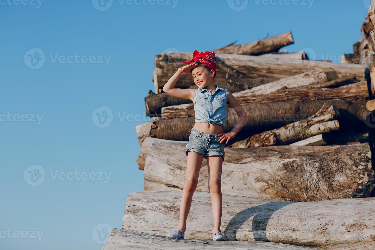 niña hermosa con estilo foto