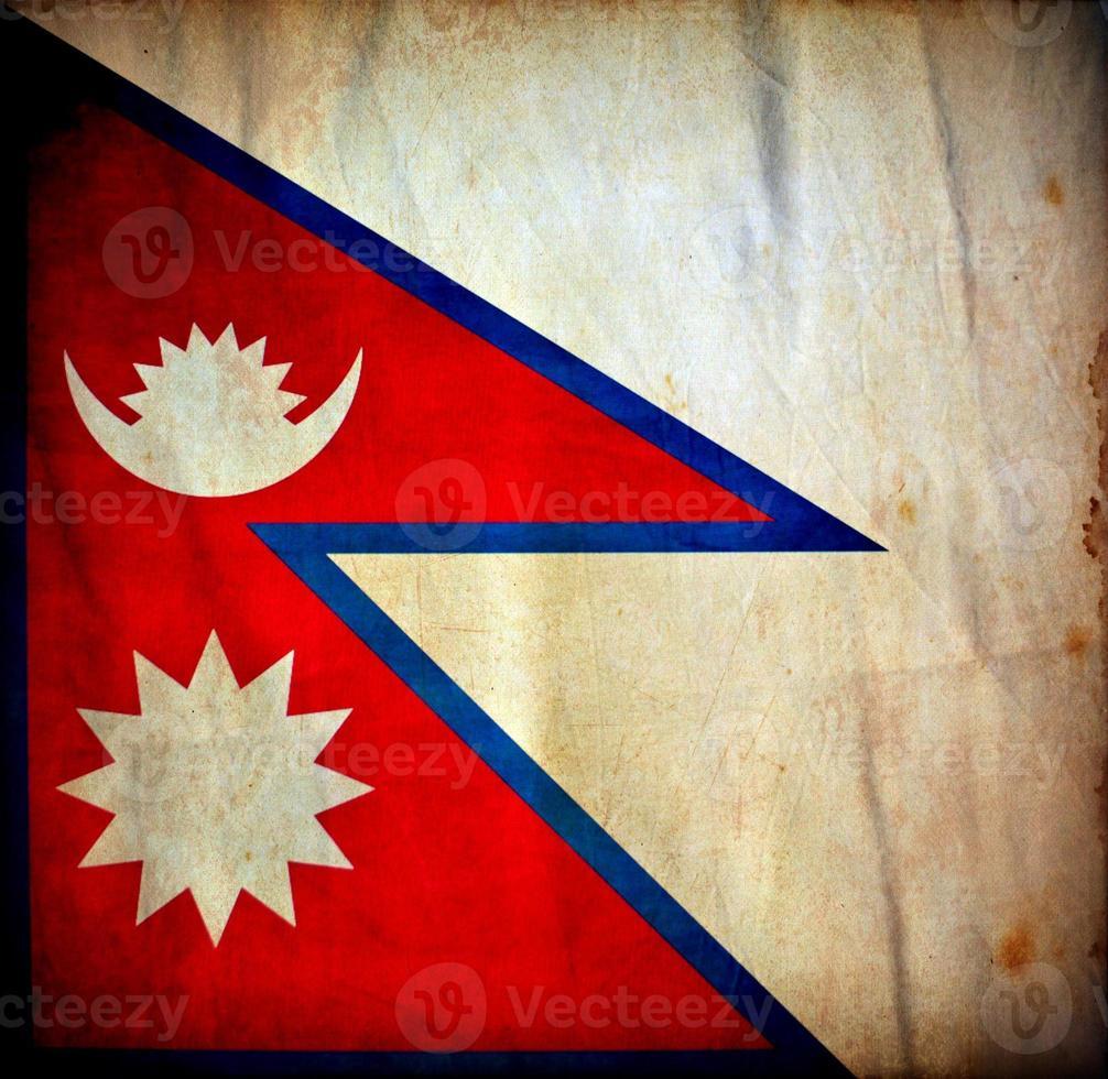Nepal grunge flag photo