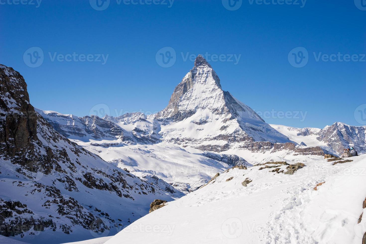Matterhorn mountain, zermatt in switzerland photo