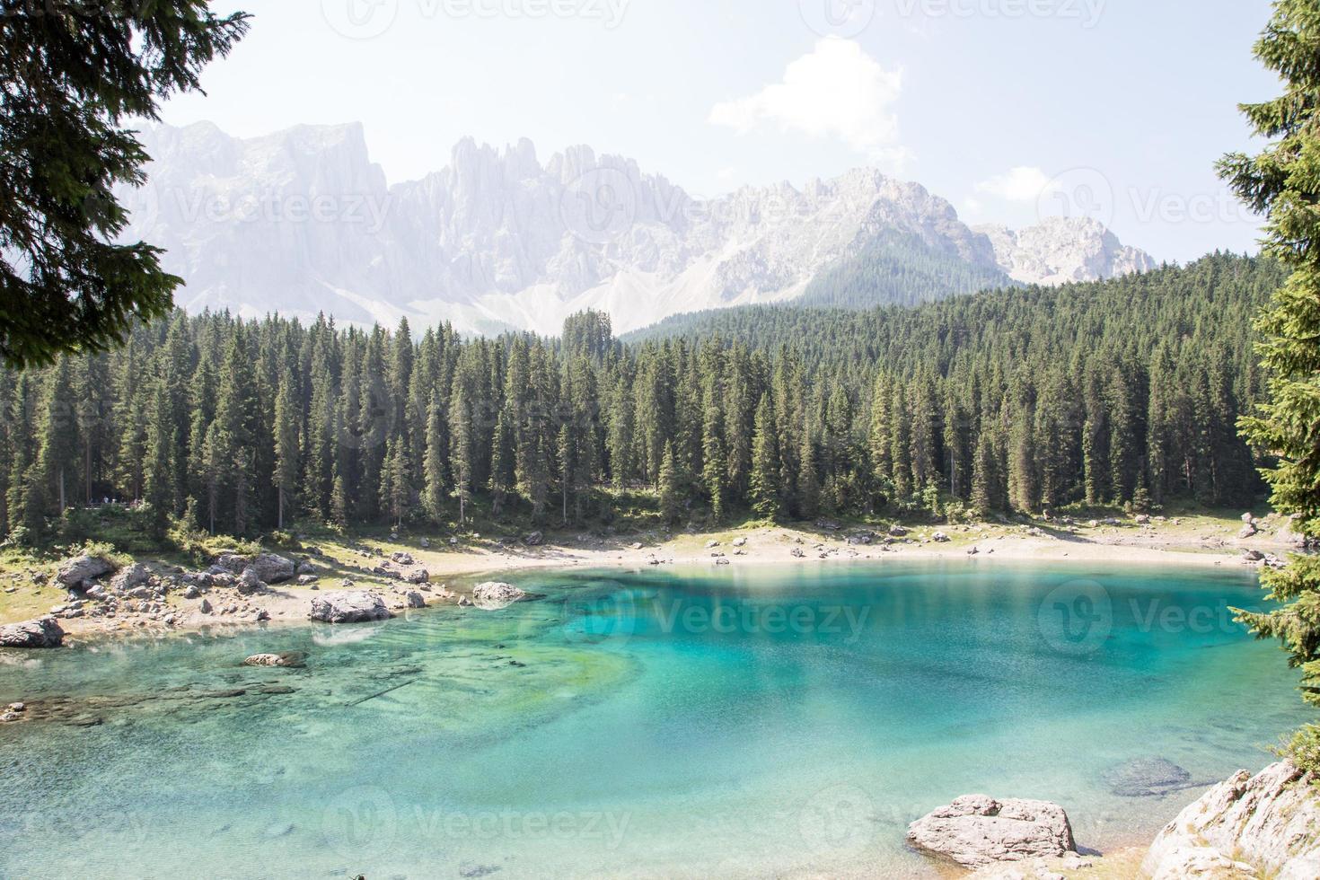 Karersee in South Tyrol photo