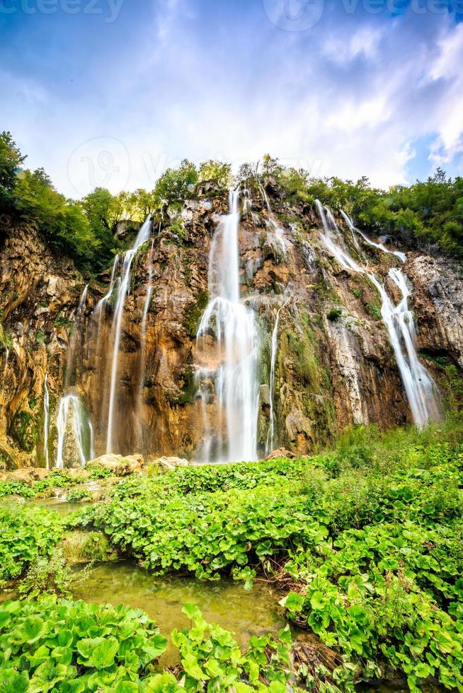 Waterfalls in Plitvice Lakes National Park photo