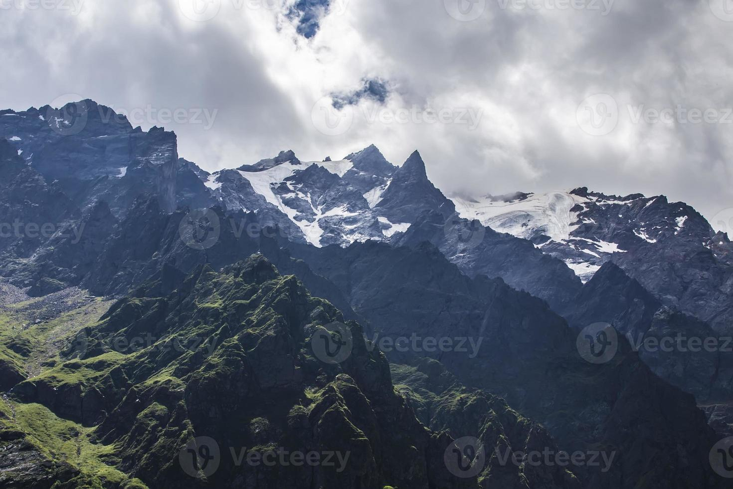 Tseyskoe gorge. Mountains photo