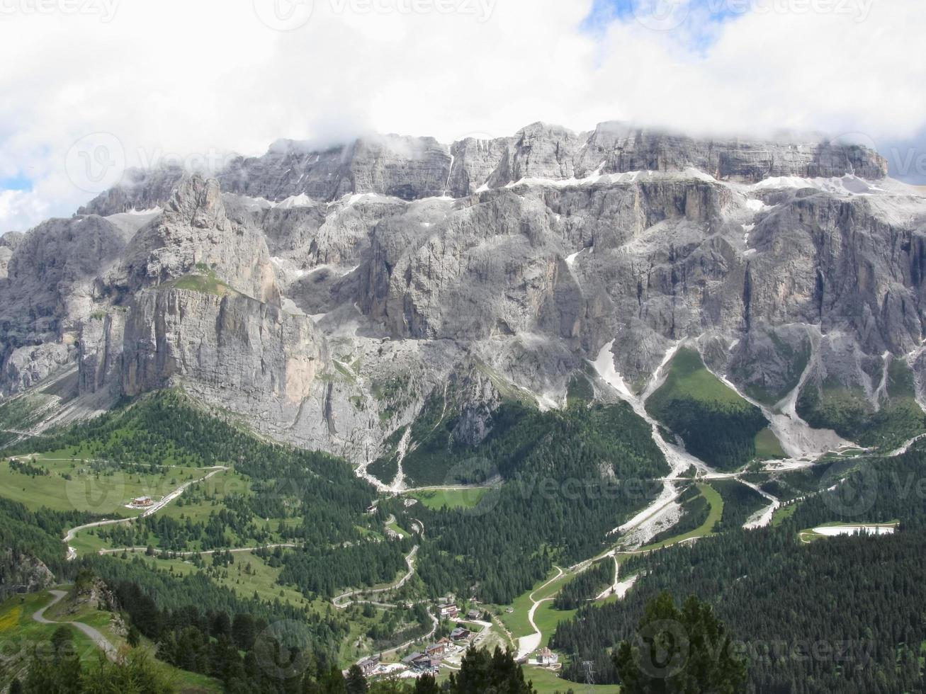 Panoramic mountain view photo
