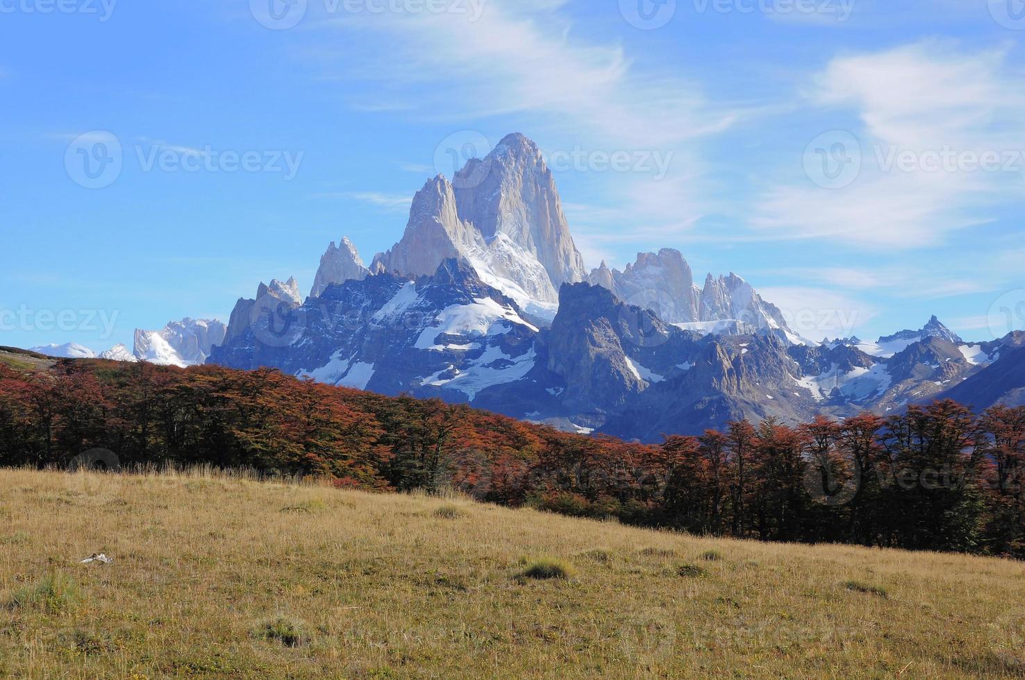 montaña fitz roy. foto