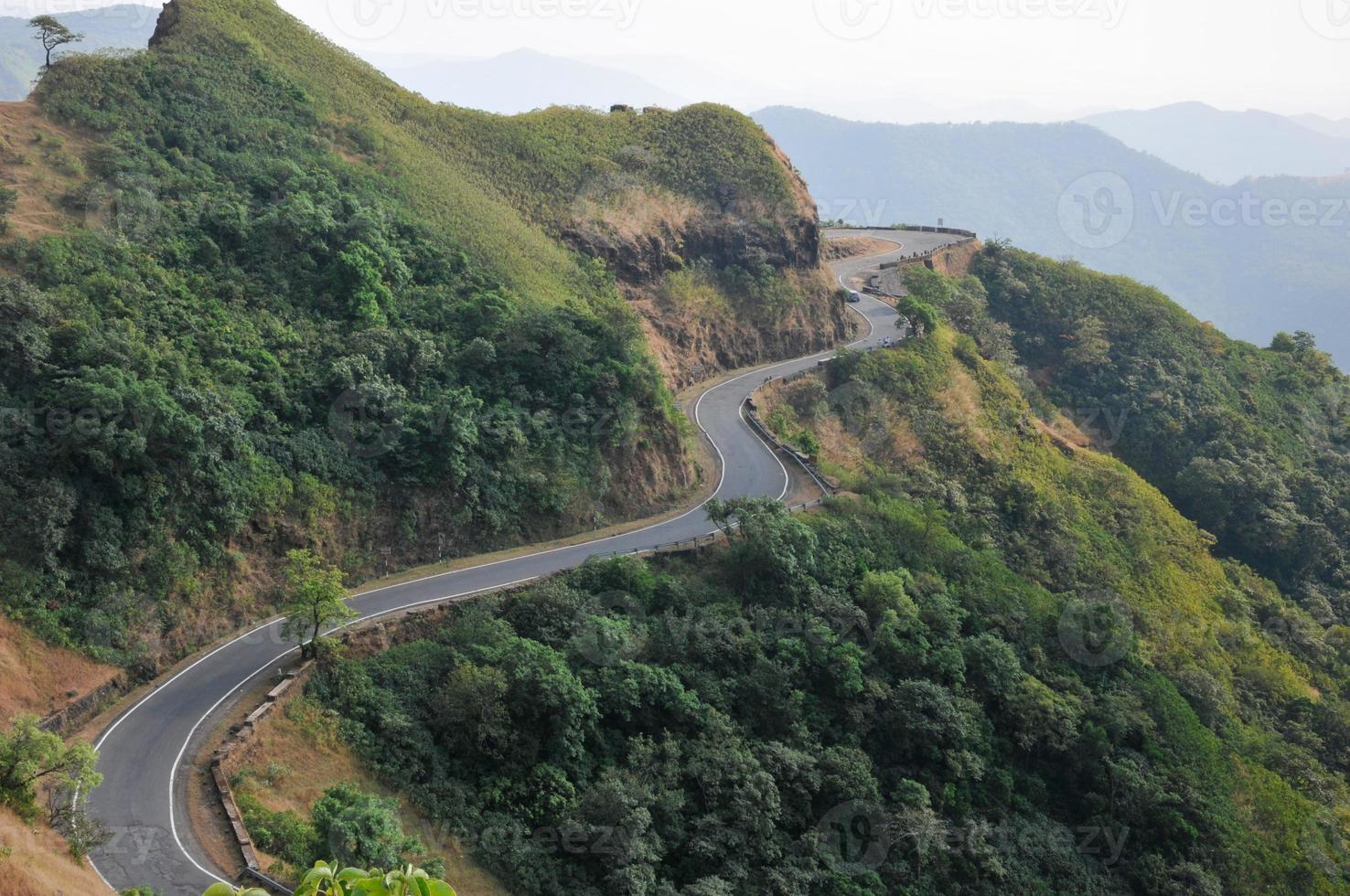 Road amidst Mountains photo