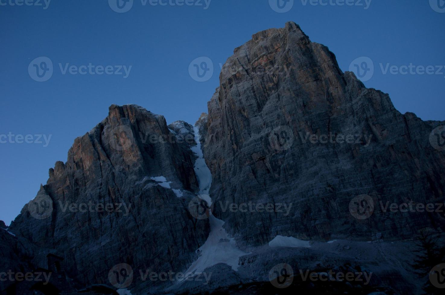Night in the mountains photo