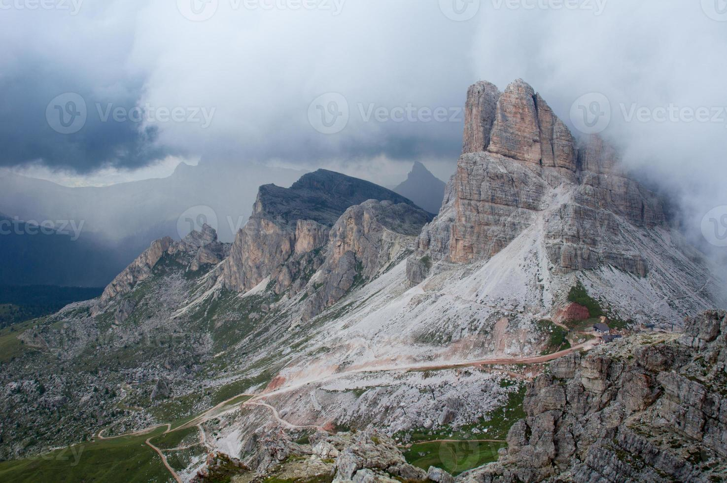 Dolomites - view on the hills photo