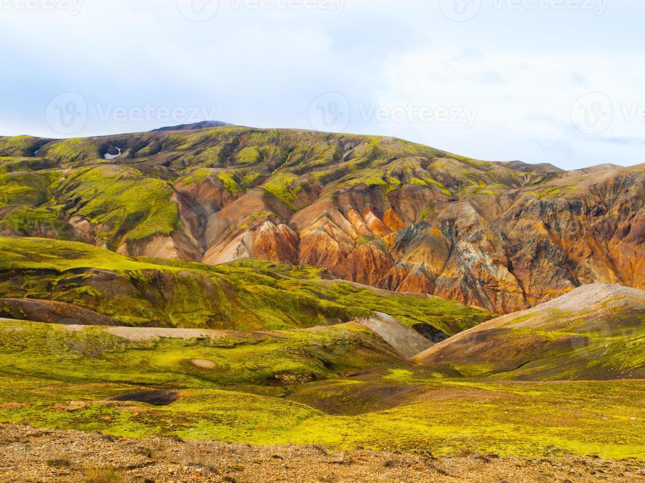 Landmannalaugar colorful rainbow mountains photo