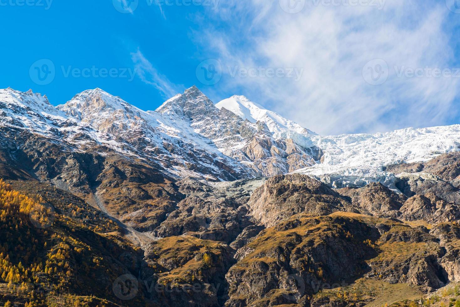 Alpine mountain from Zermatt, Switzerland photo