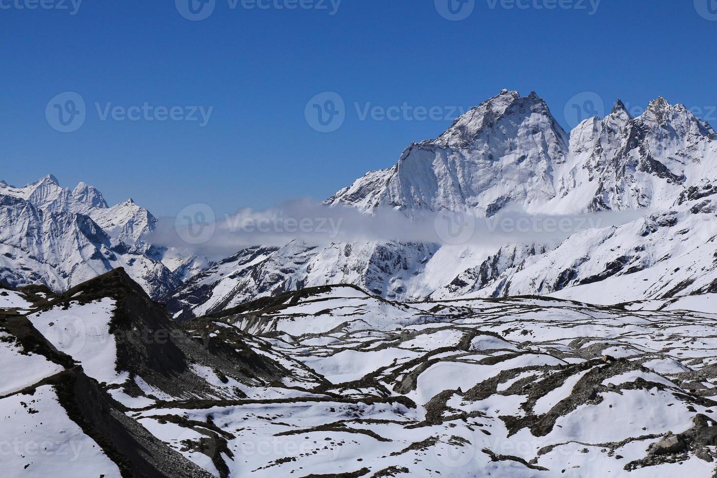 Lower part of the Ngozumba glacier photo