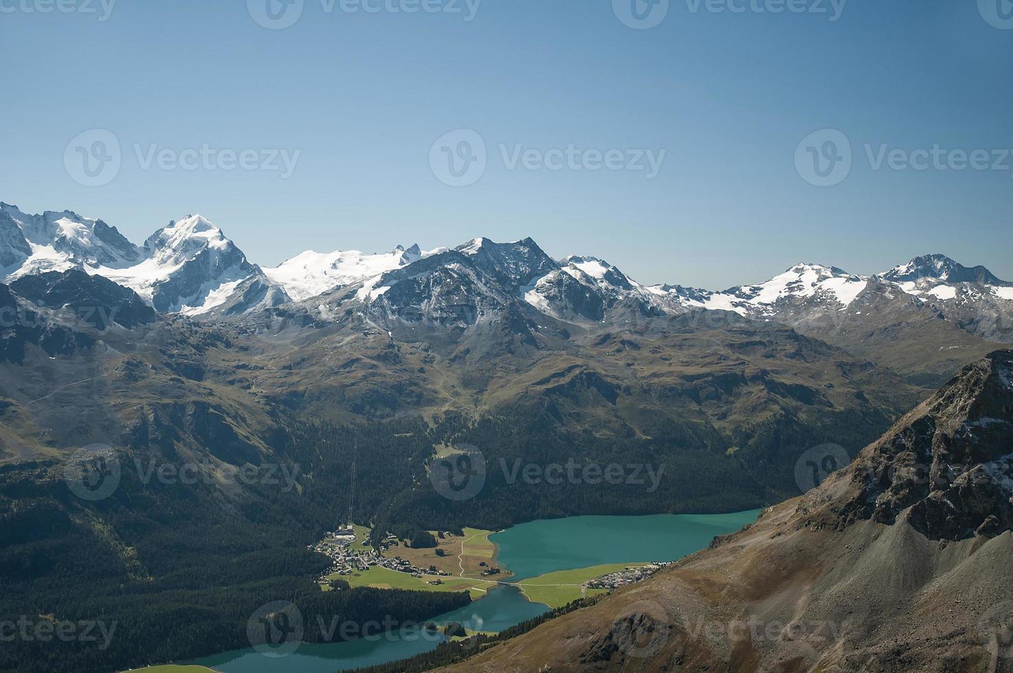 Bergpanorama der schweizer Alpen photo