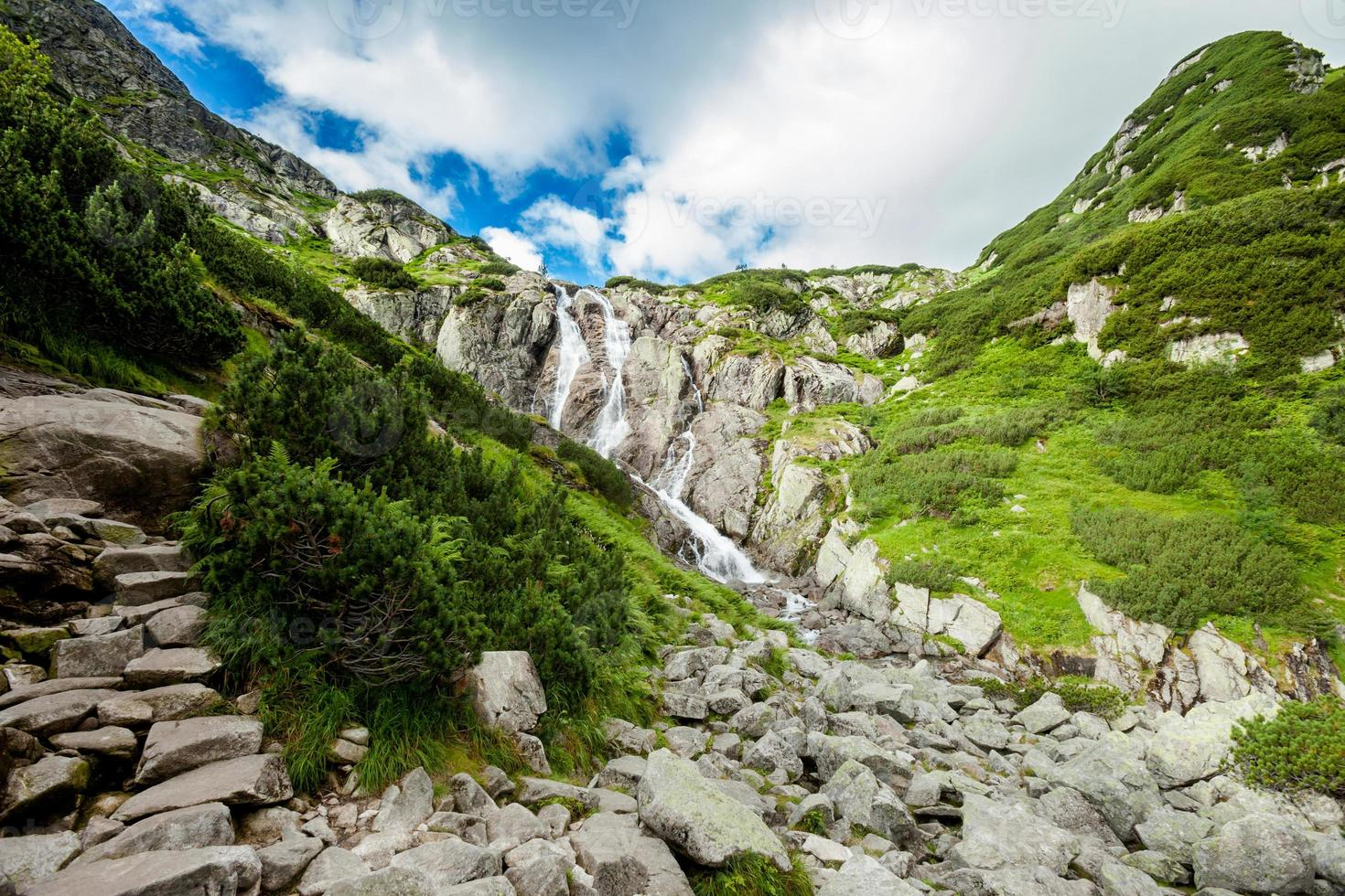 Beautiful Tatry mountains landscape Five Lakes Valley photo