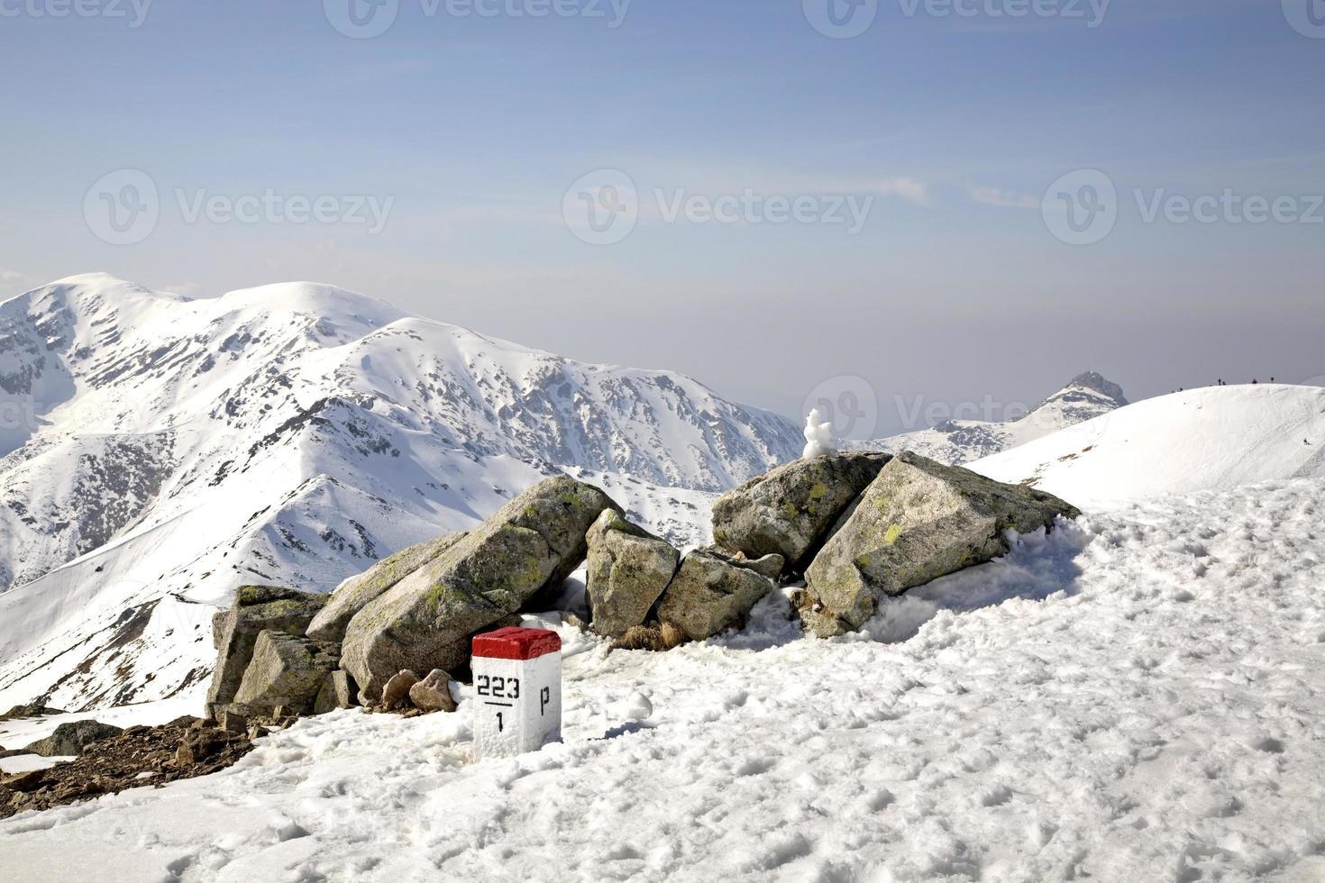 puesto fronterizo en las montañas de tatra cerca de zakopane. Polonia foto
