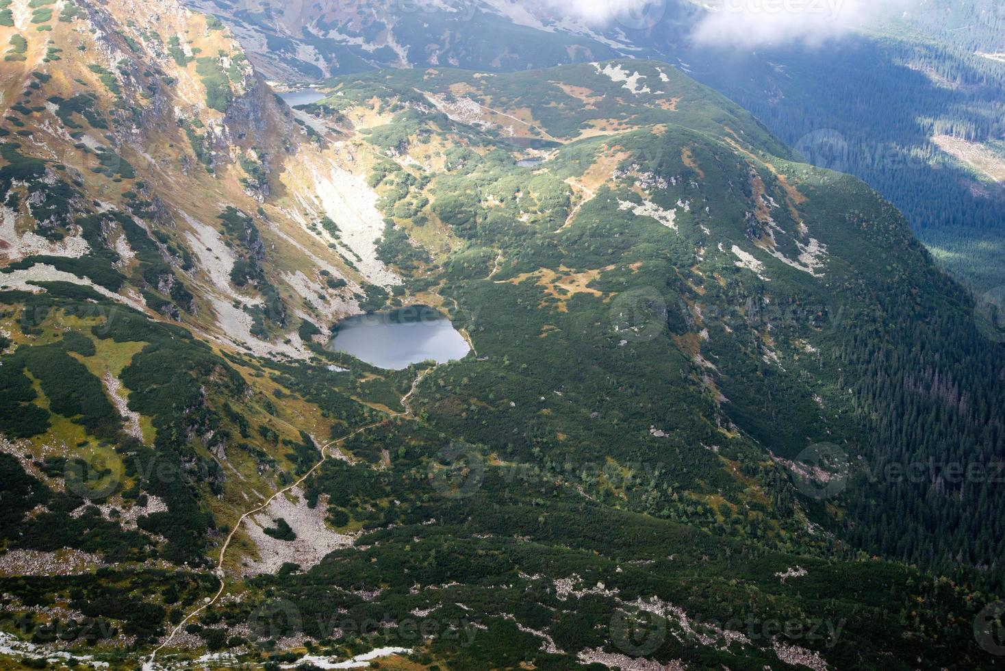 view from Volovec at Tatra mountains photo