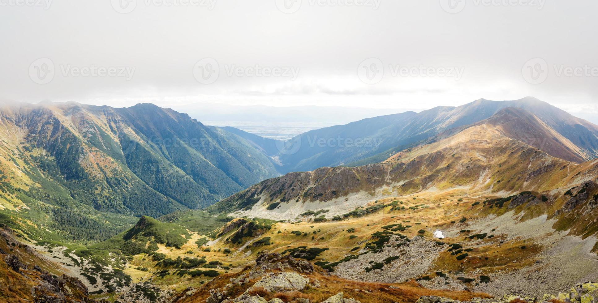 view from Ostry Rohac peak at Tatras photo