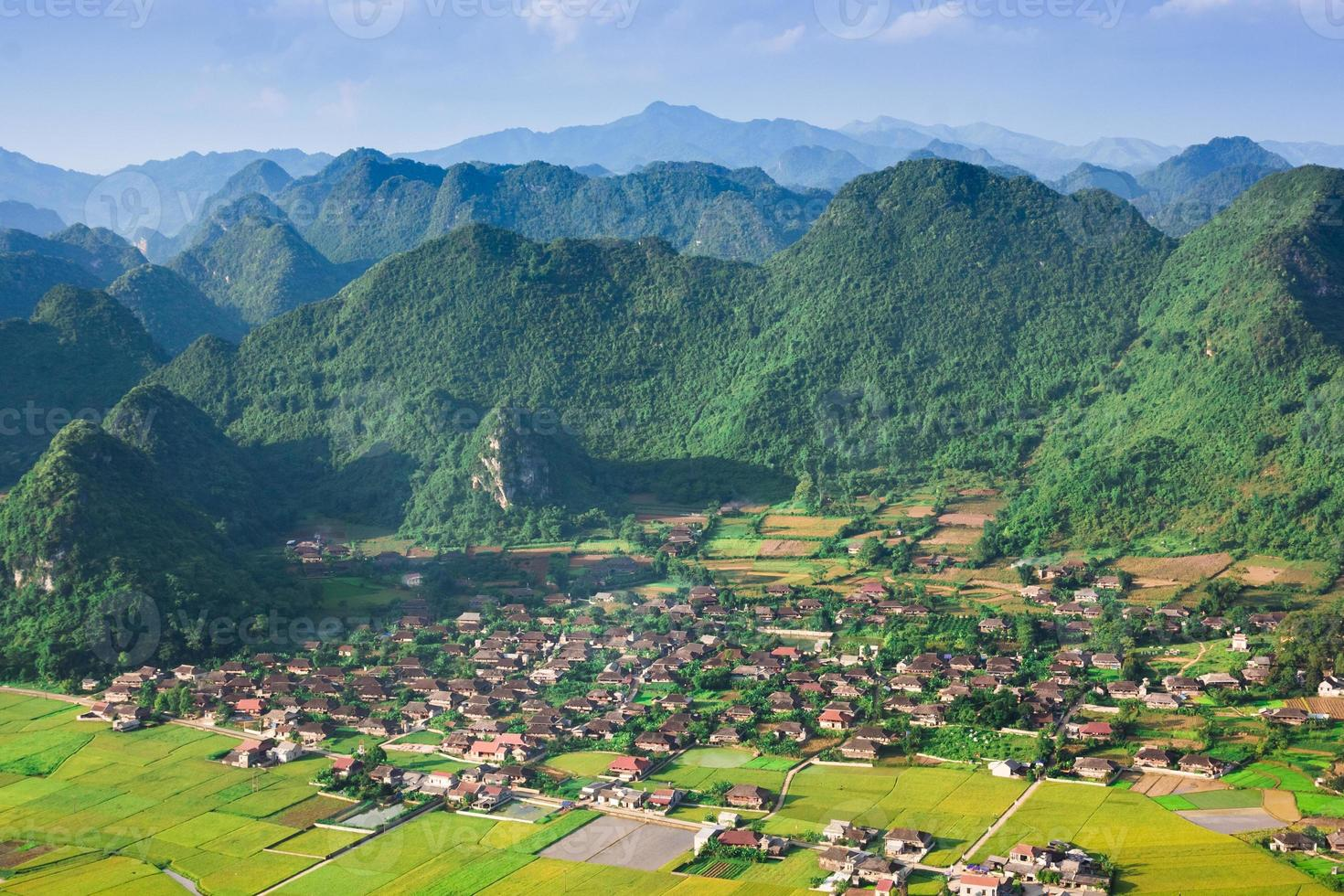 village in valley Bac Son, Vietnam photo