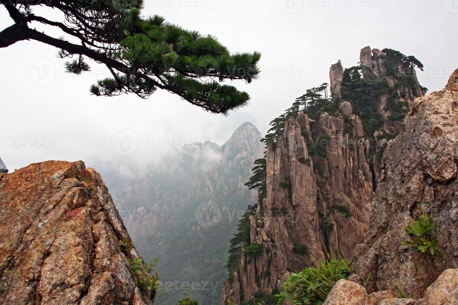 Spectacular rocks and peaks of  Huang Shan Mountains photo