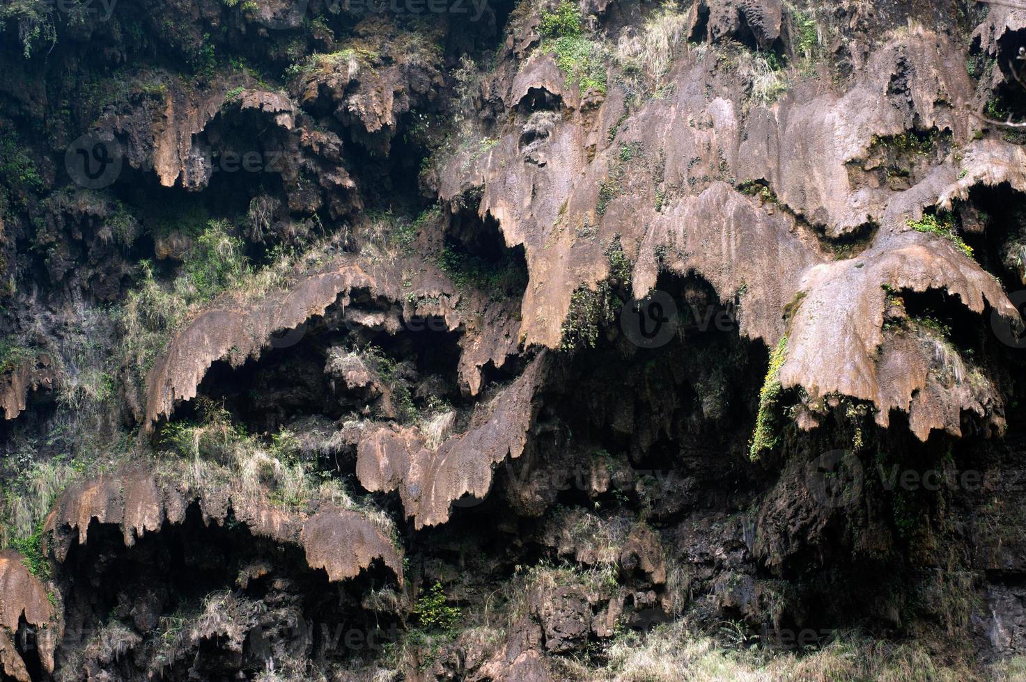 Stone texture on mountain. photo