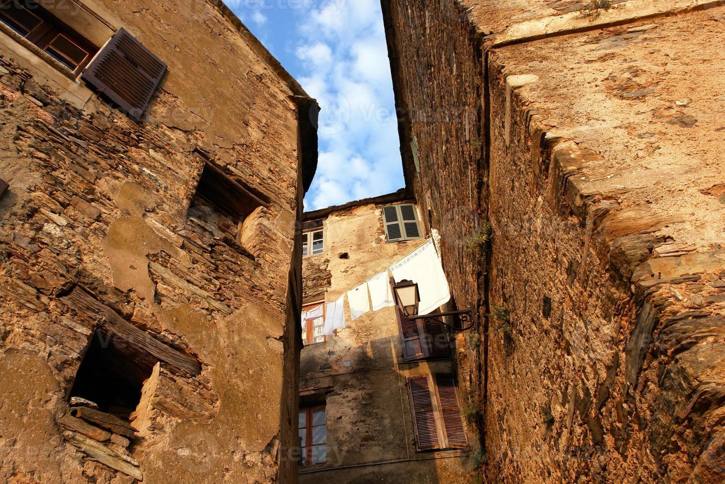 village in corsica mountains photo