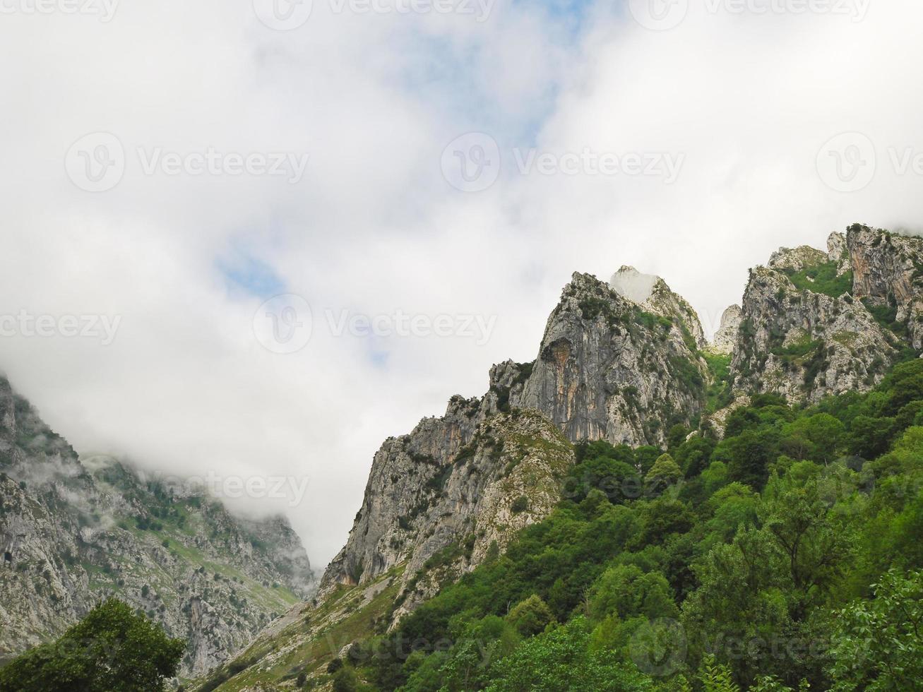 rocks in mountain national park Picos de Europa photo