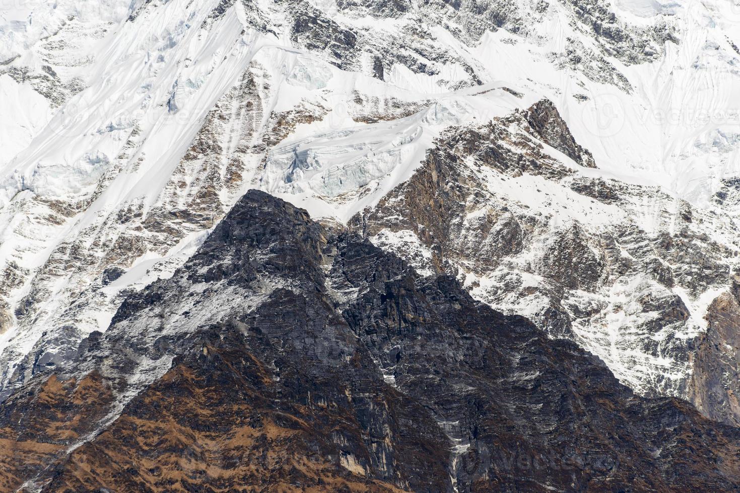 High mountain closeup photo