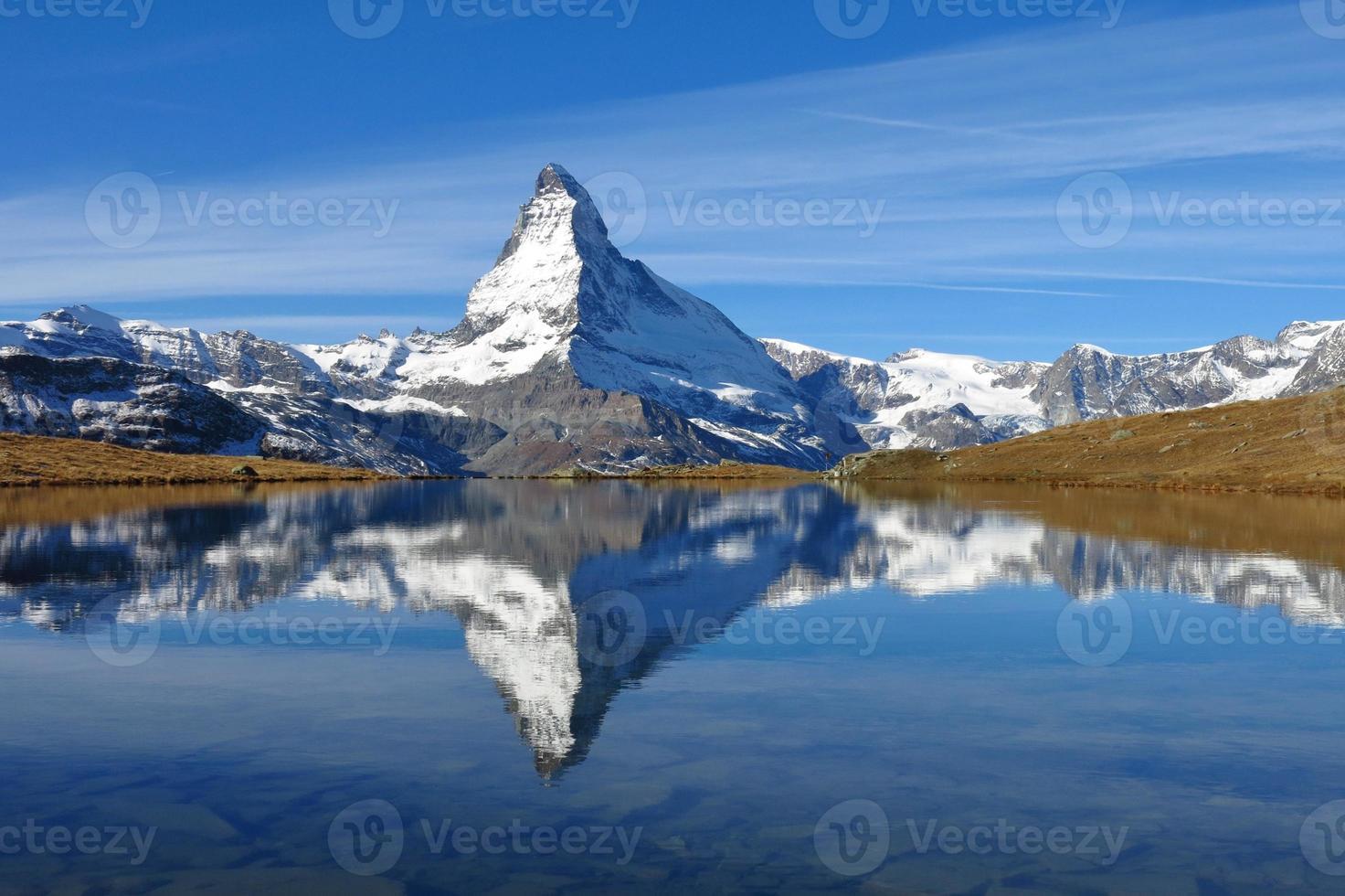 Matterhorn mirroring in lake Stellisee photo